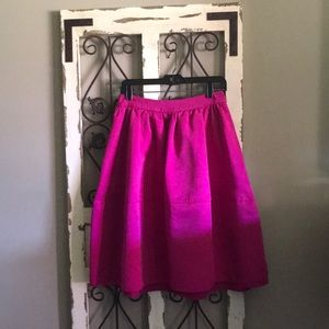 Lined midi-skirt with pockets